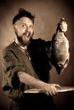 De vissers van Noorwegen Stock Foto's