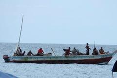 De vissers van Zanzibar Stock Foto