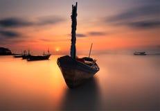 De vissersboot stock fotografie