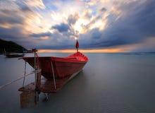 De vissersboot stock afbeeldingen