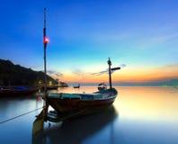 De vissersboot stock afbeelding