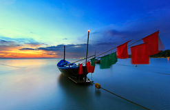 De vissersboot stock foto's
