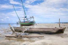 De Vissersboot Indonesië van Karimunjawa Royalty-vrije Stock Afbeeldingen