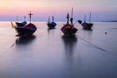 De vissersboot oude stijl stock afbeeldingen