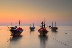De vissersboot oude stijl Stock Fotografie