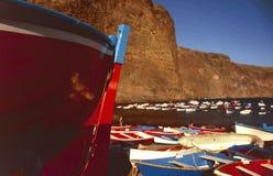 De vissersboot van Canarias van Islas Stock Fotografie