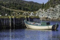 De Vissersboot van Newfoundland stock foto