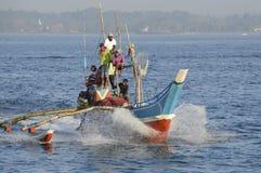 De vissersboot van Srilankan Stock Afbeelding