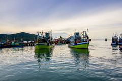 De vissersboot vist uit Royalty-vrije Stock Fotografie