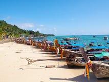 De vissersboten Stock Foto's