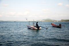 De vissersboten Stock Afbeeldingen