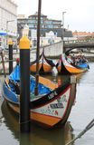 De vissersboten van Aveiro Stock Afbeeldingen
