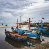 De vissersboten van Hua Hin Stock Foto
