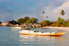De Vissersboten van Indoneisan Stock Foto