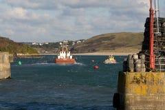 De vissersboten van de Padstowhaven stock foto
