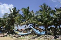 De Vissersboten van Srilankan Stock Foto's