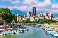 De vissershaven van Chung Kang in Taipeh royalty-vrije stock fotografie