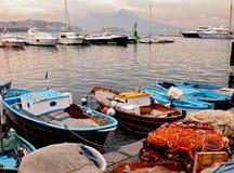 De vissershaven van Napels stock foto's
