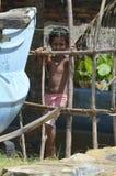 De Visserskinderen van Srilankan Royalty-vrije Stock Foto