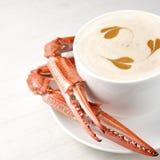 De Vissoep van de krab Royalty-vrije Stock Afbeeldingen