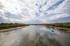 De Vistula-Rivier Warshau royalty-vrije stock fotografie