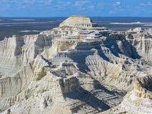 De vita bergen kazakhstan Royaltyfri Bild