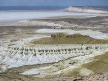 De vita bergen kazakhstan Arkivfoto
