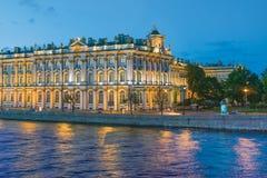 De vita nätterna i St, Petersburg Royaltyfri Fotografi