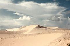 De vita sanddyerna av Vietnam Arkivfoton