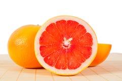 De vitaminen van de Grapefruit van het fruit stock foto's