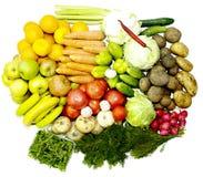 De vitaminen van fruitgroenten voor gezondheid en stemming Royalty-vrije Stock Foto's