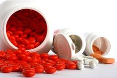 De vitaminen van pillen stock foto's
