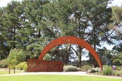 De Vitoriastaat nam tuin in Melbourne, Australië toe Stock Afbeeldingen