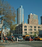 De Vlaamse gaai van Brooklyn en Tillary Straten New York Stock Foto