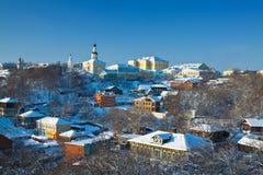 De Vladimir ville vers le bas en hiver Image libre de droits