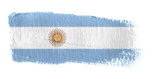 De Vlag Argentinië van de penseelstreek Stock Fotografie