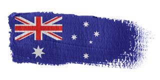 De Vlag Australië van de penseelstreek stock illustratie