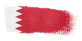 De Vlag Bahrein van de penseelstreek Stock Fotografie