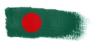 De Vlag Bangladesh van de penseelstreek Stock Fotografie