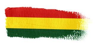 De Vlag Bolivië van de penseelstreek Stock Fotografie