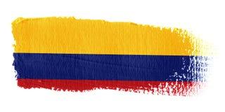 De Vlag Colombia van de penseelstreek stock illustratie
