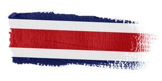 De Vlag Costa Rica van de penseelstreek Stock Afbeeldingen