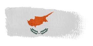 De Vlag Cyprus van de penseelstreek Royalty-vrije Stock Afbeelding