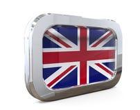 De Vlag 3D illustratie van de Englanknoop Royalty-vrije Stock Foto