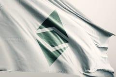 De vlag 3d illustratie van Ethereum Klassieke enz. cryptocurrency stock illustratie