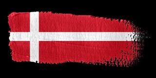 De Vlag Denemarken van de penseelstreek Royalty-vrije Stock Afbeeldingen
