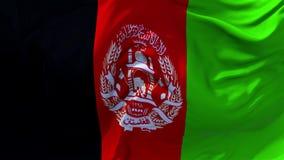 03 De Vlag die van Afghanistan op Achtergrond van de Wind de Ononderbroken Naadloze Lijn golven royalty-vrije illustratie