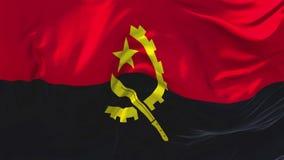 De Vlag die van Angola op Achtergrond van de Wind de Ononderbroken Naadloze Lijn golven stock illustratie