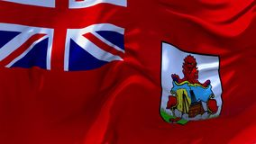 08 De Vlag die van de Bermudas op Achtergrond van de Wind de Ononderbroken Naadloze Lijn golven stock footage