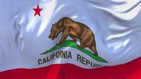 303 De Vlag die van Californië op Achtergrond van de Wind de Ononderbroken Naadloze Lijn golven vector illustratie